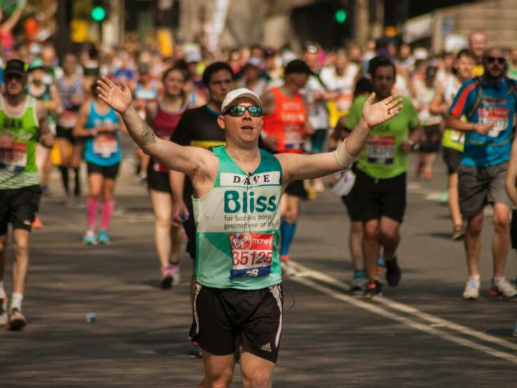 London marathon runner