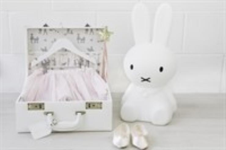Meminio Memory Case with Tutu, toy rabbit & shoes