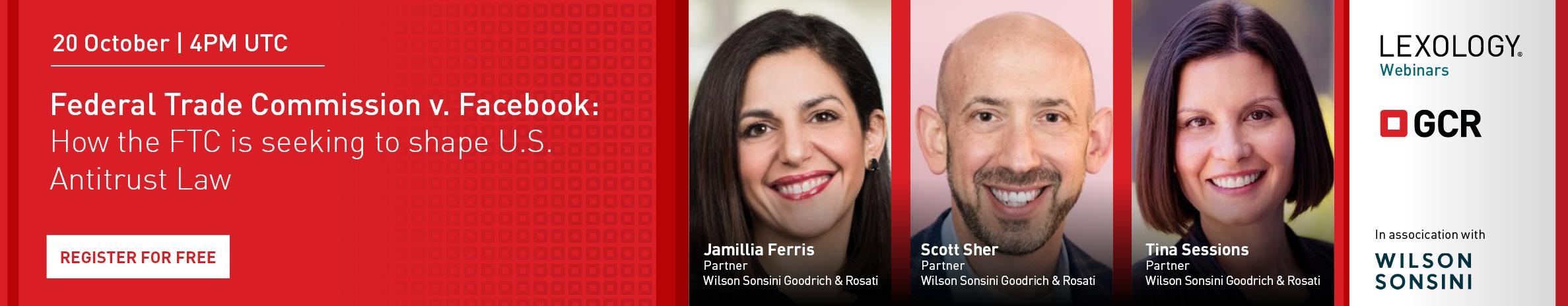 Wilson Sonsini Goodrich & Rosati Webinar, 20 October, 4pm UTC