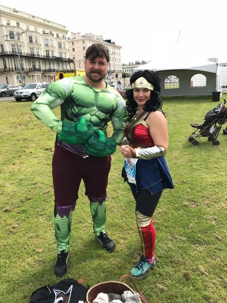 Superheroes On Lawns