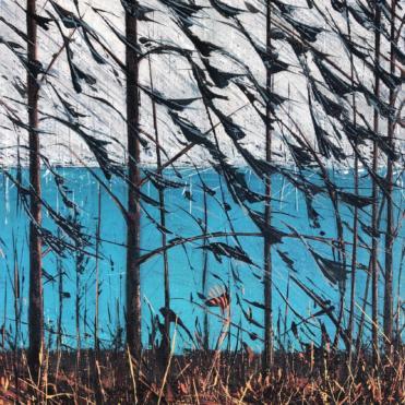 Green Loch No 8 Mixed Media on cnavas 60 x 70cm