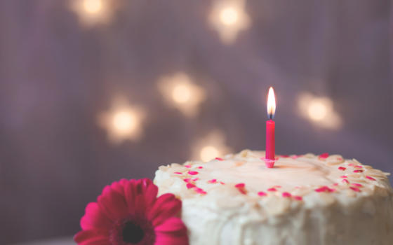 Canva Cake With Candle