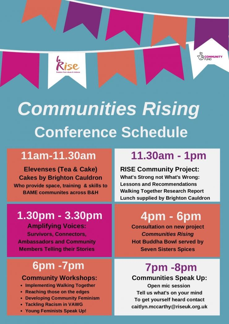 Communities Rising Conference Schedule FINAL