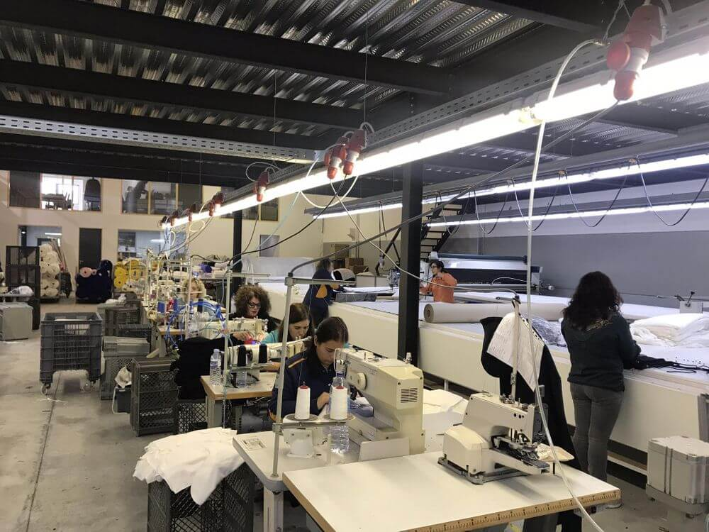 clothing production process small factory
