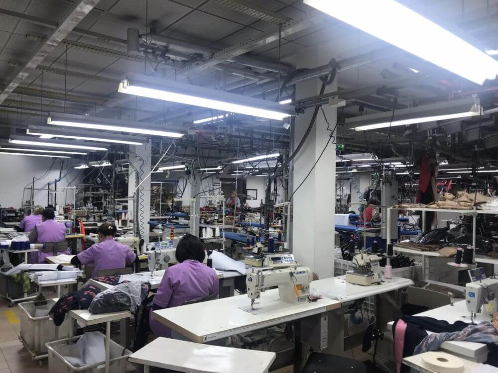 big sewing factory