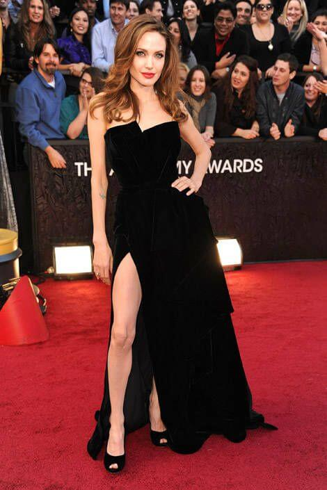 Angelina Jolie 2012 Oscars Dress Getty Images