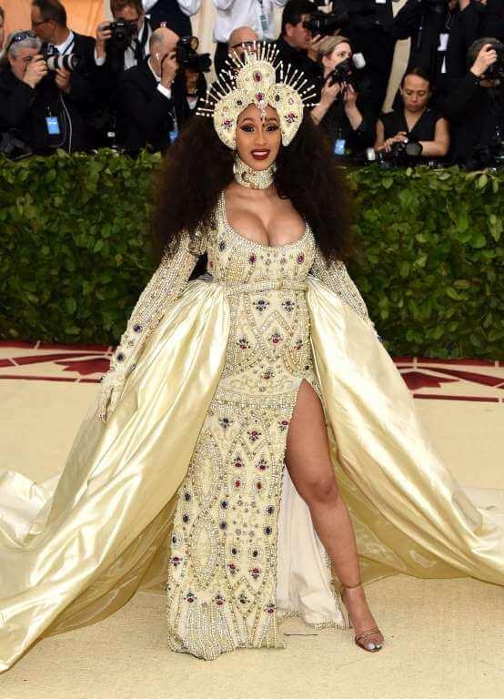 Cardi B 2018 Met Gala Dress Getty Images