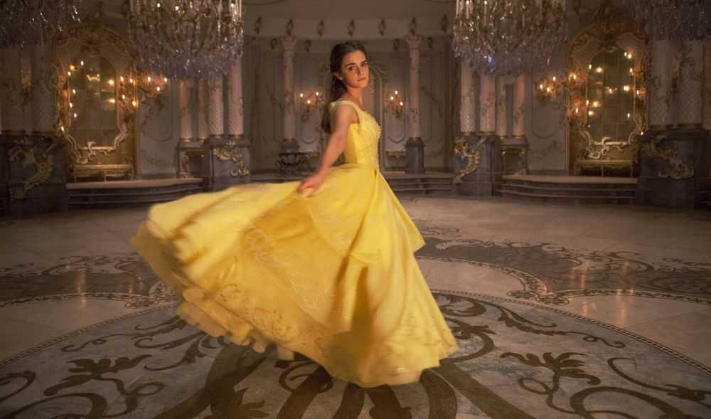 Emma Watson Belle Yellow Dress Laurie Sparham-Walt Disney Pictures