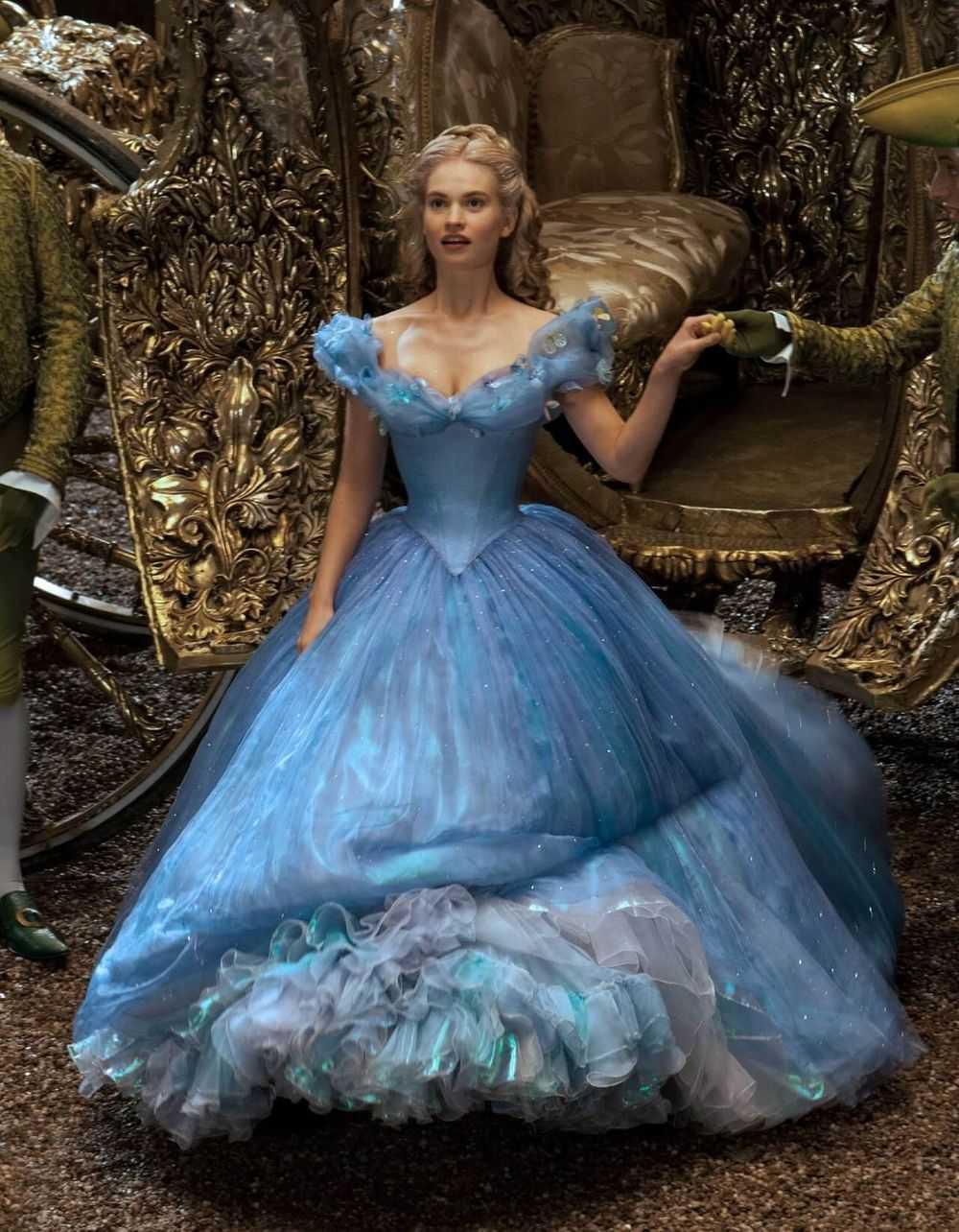 Lily James Cinderella Dress Walt Disney Pictures