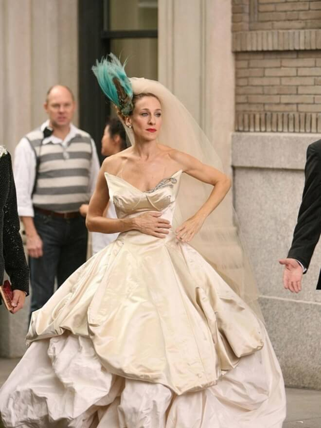 Sarah-Jessica Parker SITC Wedding Dress Getty HBO Films