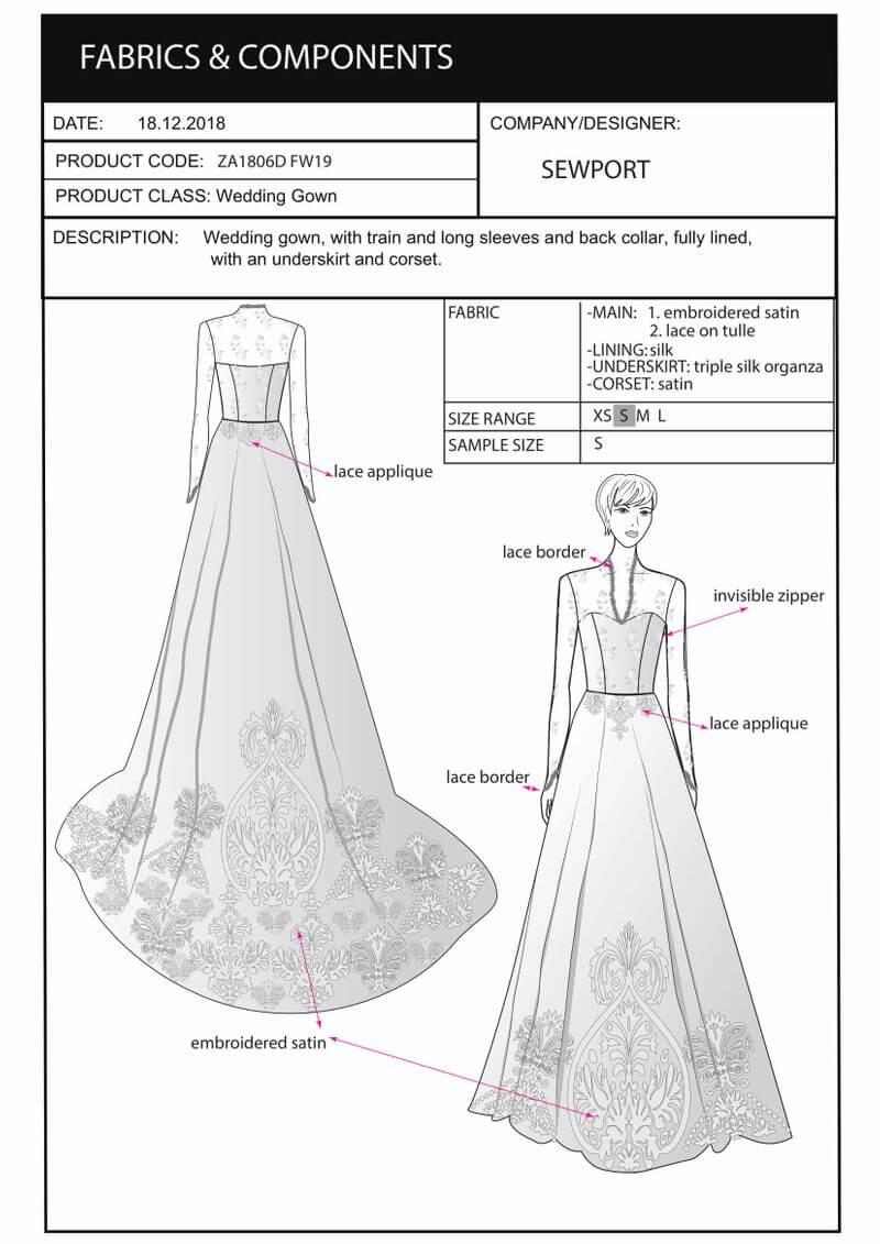 sketch tech pack kate dress