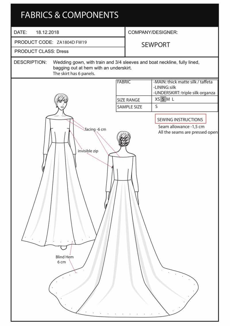 sketch tech pack meghan dress