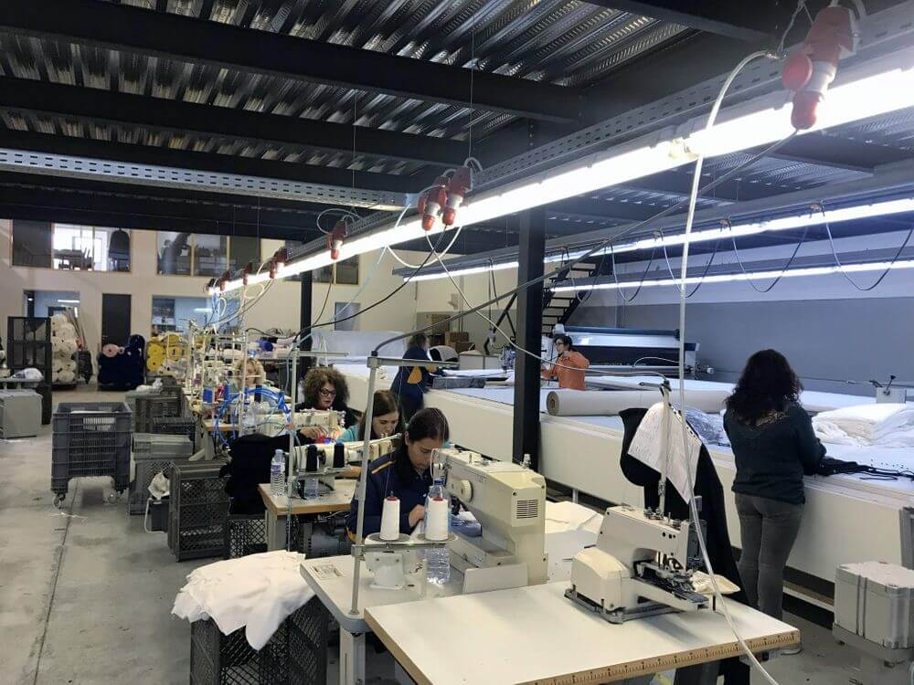 sewing factory t shirt production