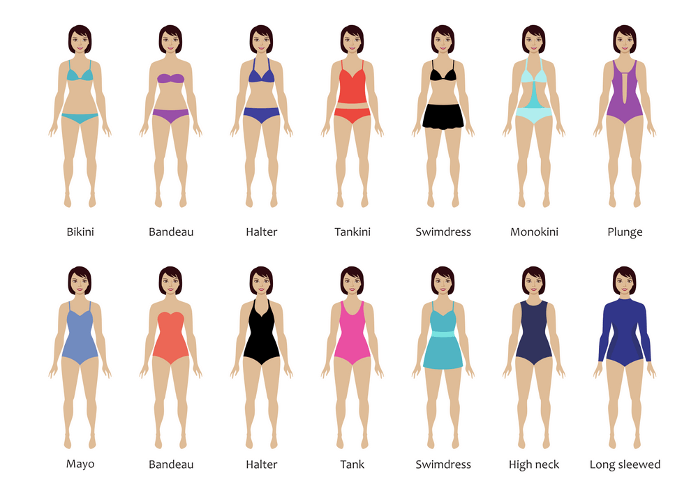 swimwear design different styles