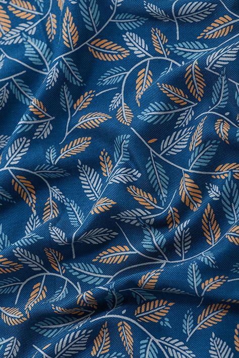 Printed Cotton Viscose Twill Fabric