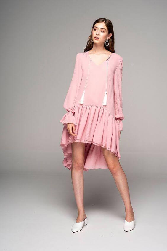 Dark Pink Viscose Dress