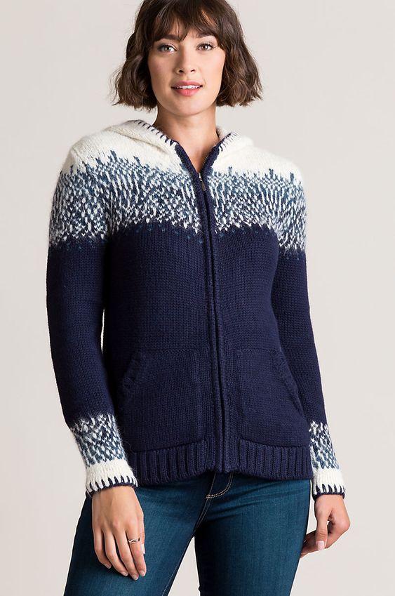 bryn alpaca wool hooded cardigan sweater