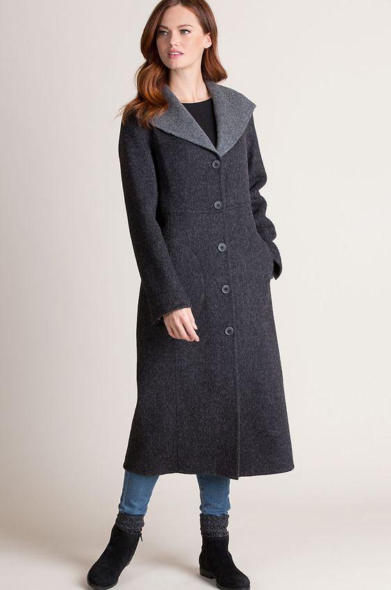 frances reversible alpaca wool blend coat