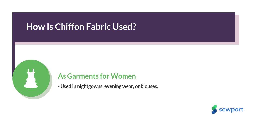 how is chiffon fabric used