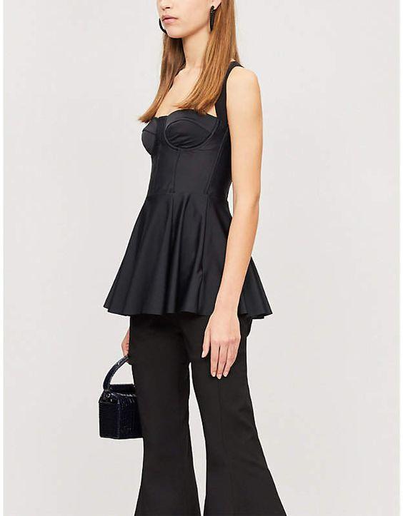 KITX Past Is Future peplum-hem econyl corset top