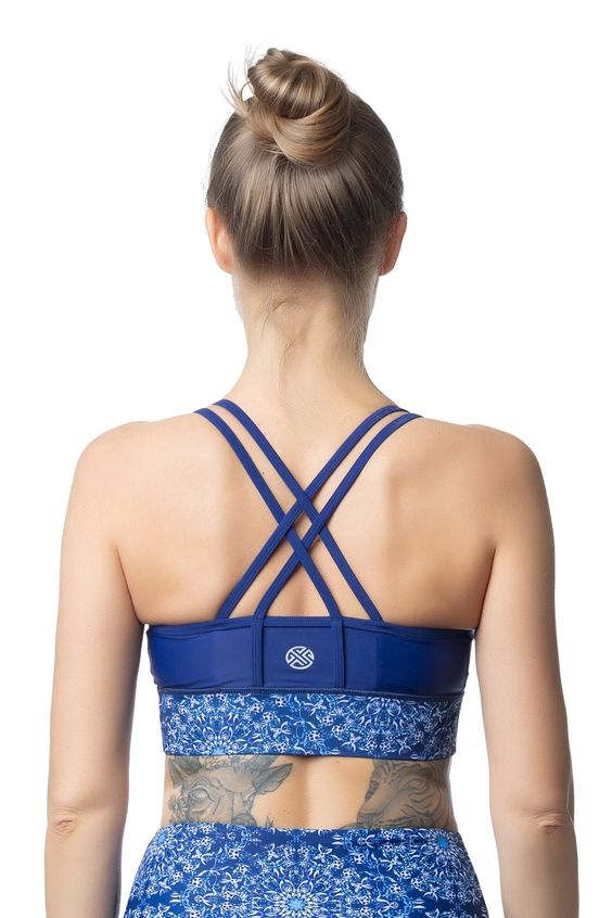Sports Bra China Blue it is made of a ECONYL regenerated Nylon