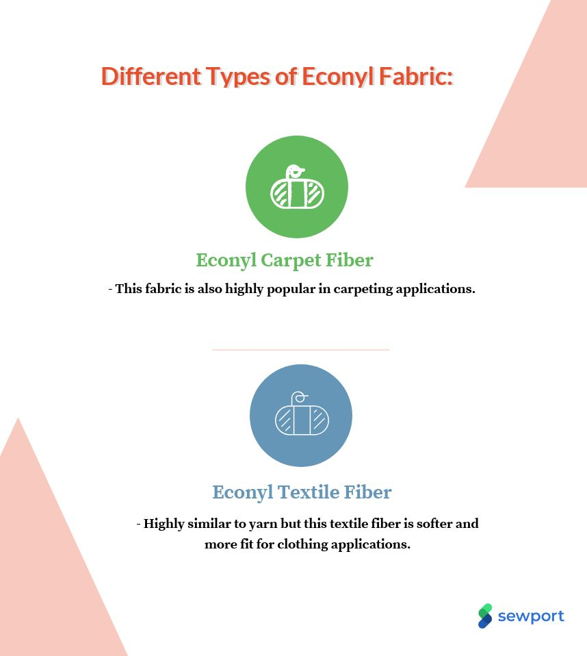 different types of econyl fabric