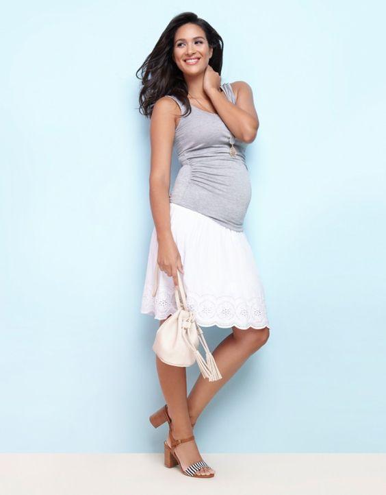 grey micromodal maternity nursing top