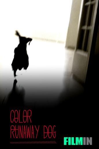 Color perro que huye
