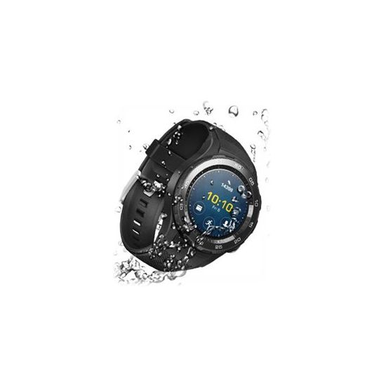 Huawei Watch 2 Sports - sort karbon - smart ur med sportsbånd - 4 GB