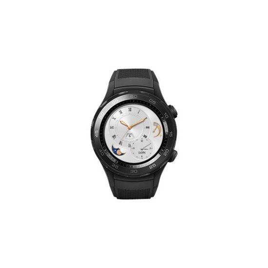 Huawei Watch 2 Sports - sort karbon - smart ur med sportsbånd - 4 GB