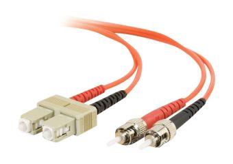 C2G ST-ST 50/125 OM2 Duplex Multimode PVC Fiber Optic Cable (LSZH)
