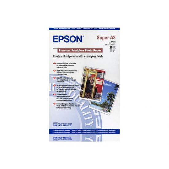 Epson Premium Semigloss Photo Paper - fotopapir - 20 ark - A3 Plus