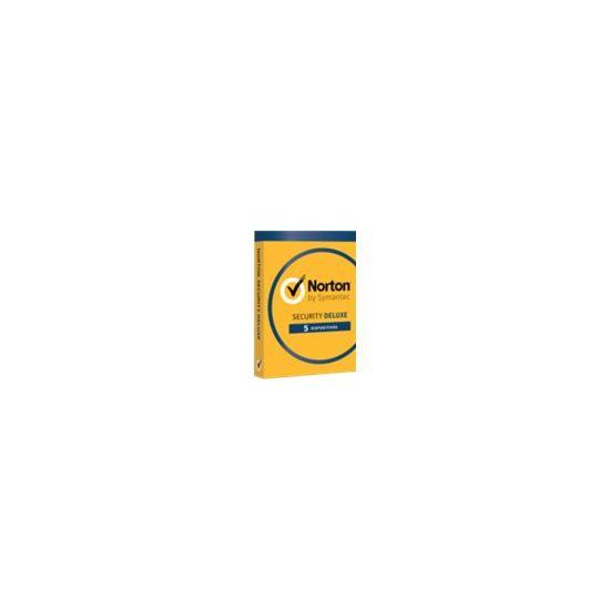 Norton Security Deluxe (v. 3.0) - bokspakke (1 år) - op til 5 enheder