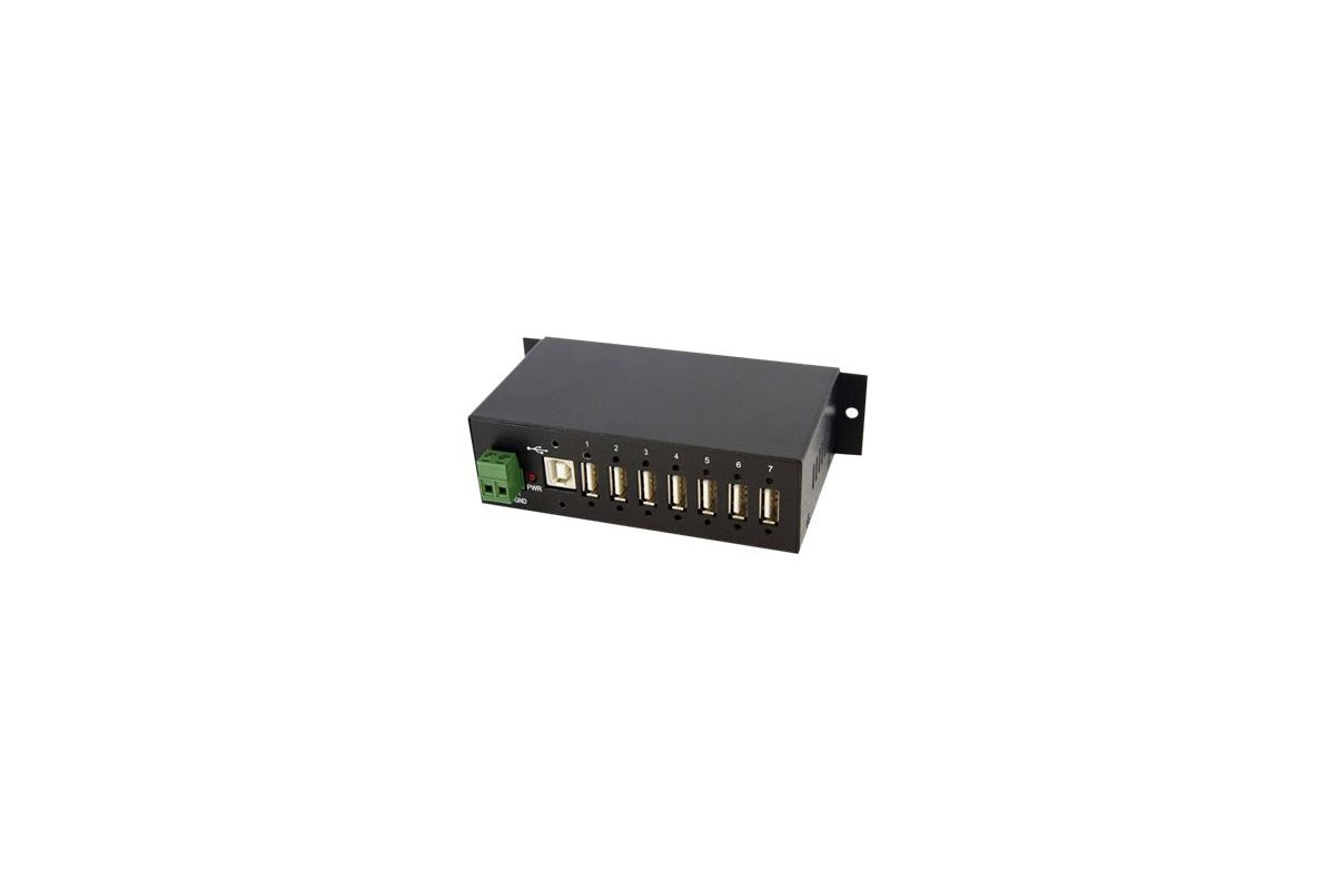 StarTech.com Mountable Rugged Industrial 7 Port USB Hub