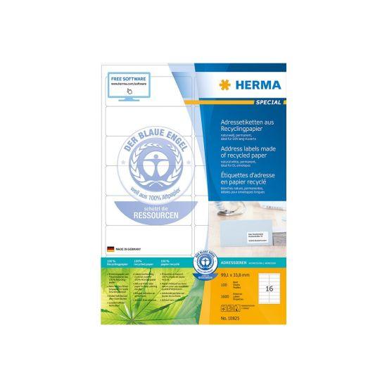 HERMA Special - adresseetiketter - 1600 stk. - 99.1 x 33.8 mm