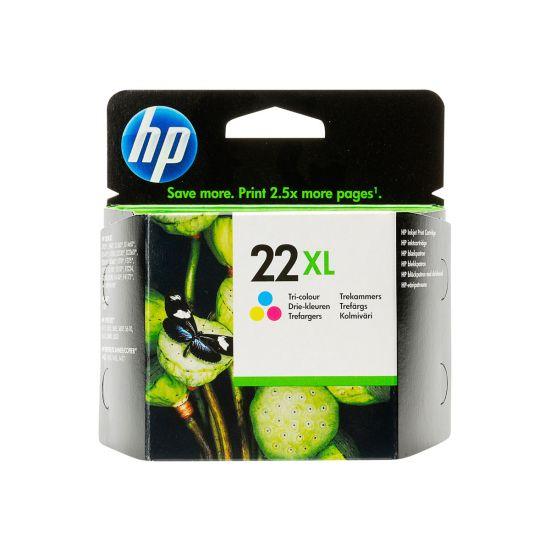 HP 22XL - Højtydende - farvebaseret tricolor - original - blækpatron