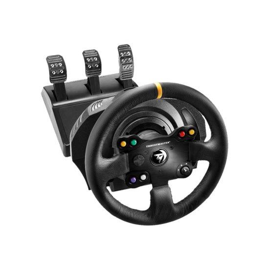 ThrustMaster TX Racing - Leather Edition - rat og pedalsæt - kabling