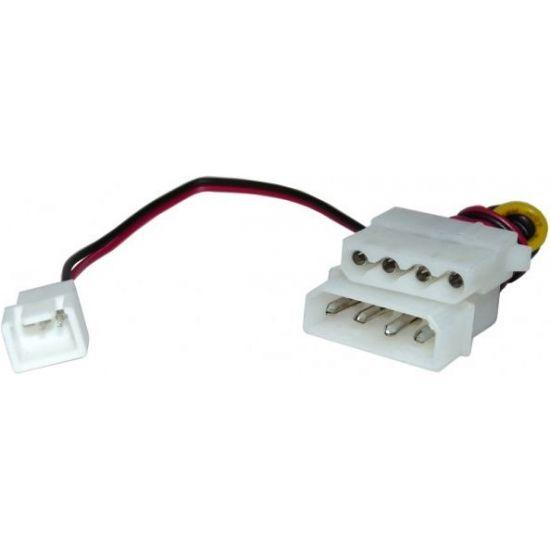 Strømforsyningsadapter - 4 pin molex til 3 pin adapter