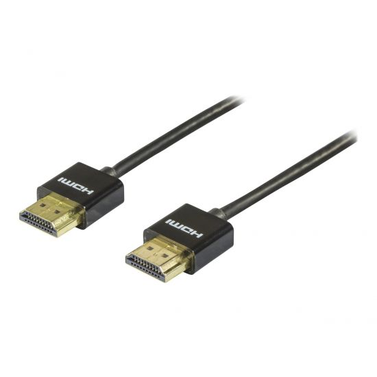 DELTACO HDMI til HDMI kabel Tyndt 1 m Sort
