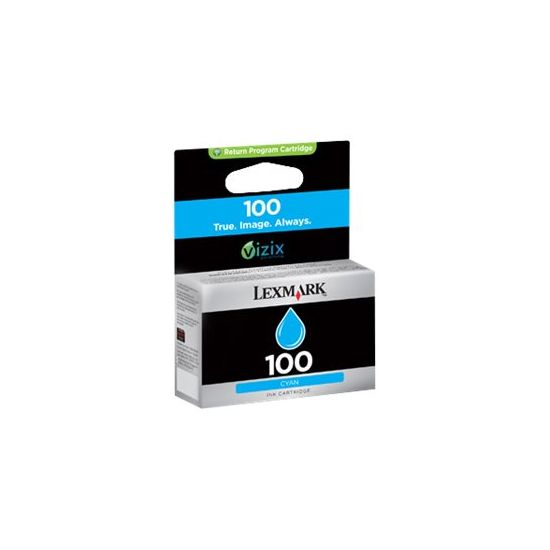 Lexmark Cartridge No. 100 - cyan - original - blækpatron - LCCP, LRP