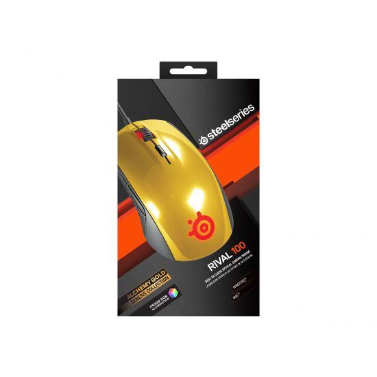 SteelSeries Rival 100 - mus - USB - alkymi-guld