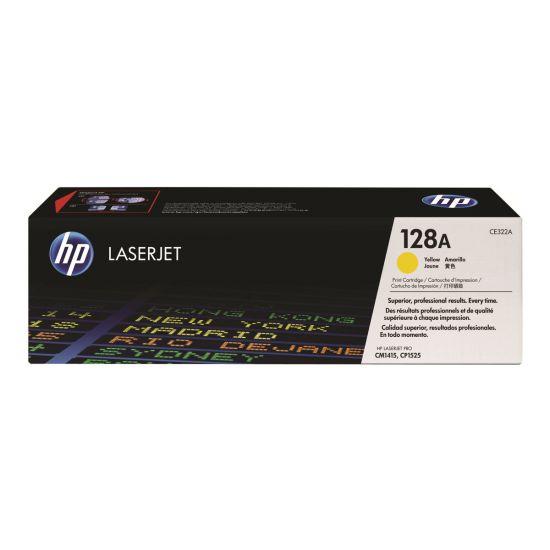 HP 128A - gul - original - LaserJet - tonerpatron (CE322A)