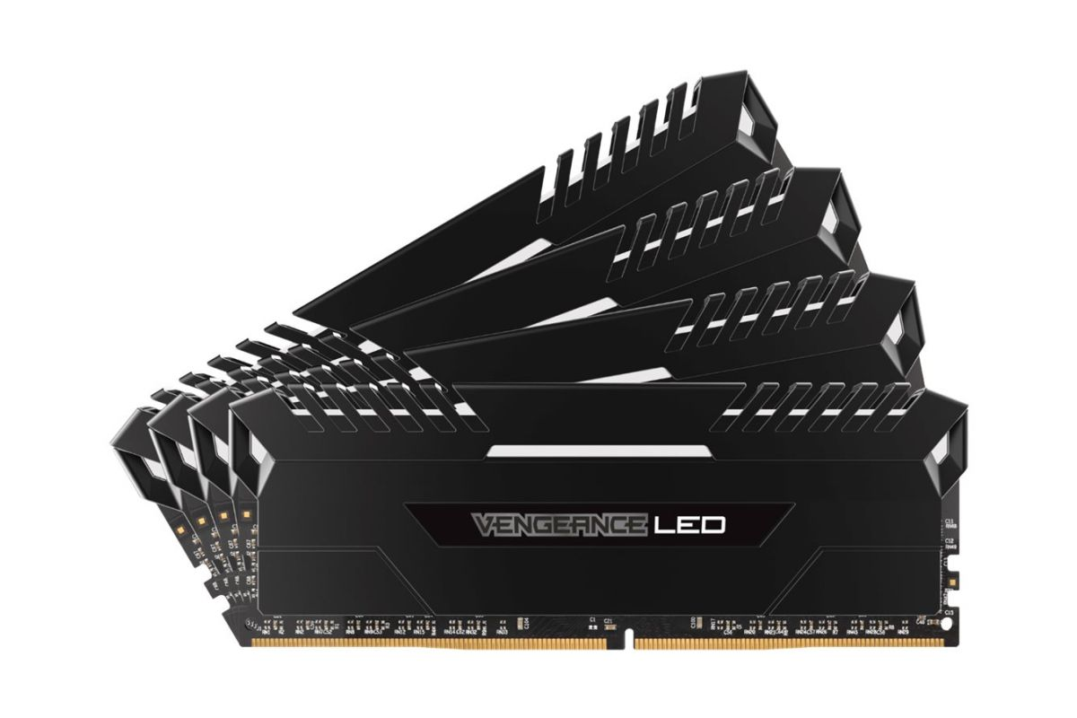 Corsair Vengeance LED &#45 64GB: 4x16GB &#45 DDR4 &#45 3000MHz &#45 DIMM 288-PIN
