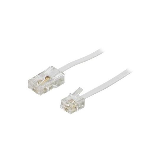 DELTACO telefonkabel - 3 m - hvid