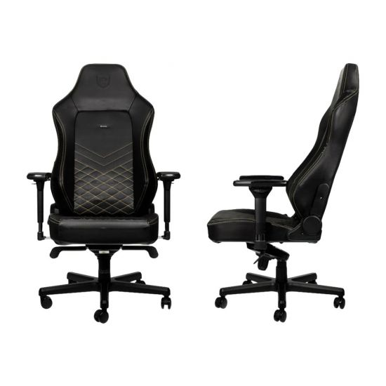 noblechairs HERO Faux Leather Gaming Chair - Black/Gold