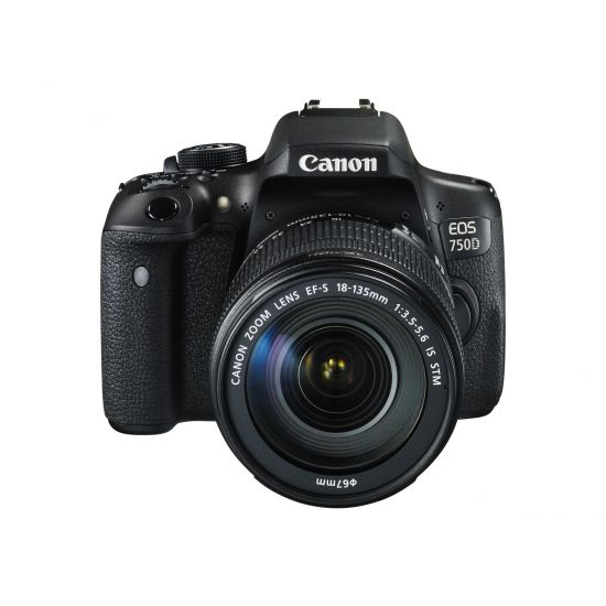 Canon EOS 750D - digitalkamera EF-S 18-135 mm IS STM objektiv