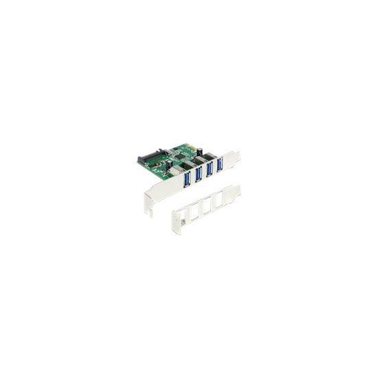 DeLock PCI Express Card > 4 x USB 3.0 - USB-adapter