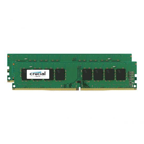 Crucial &#45 16GB: 2x8GB &#45 DDR4 &#45 2400MHz &#45 DIMM 288-PIN - CL17