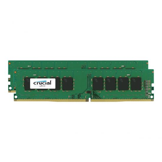 Crucial &#45 16GB: 2x8GB &#45 DDR4 &#45 2400MHz &#45 DIMM 288-PIN - CL17