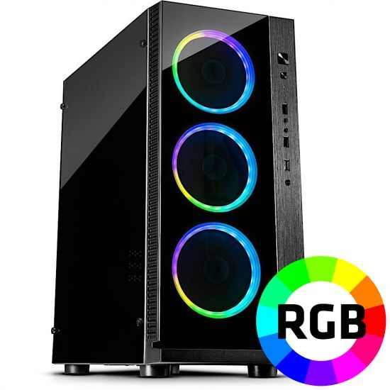 Føniks RGB Edition Færdigsamlet Gamer Computer - Intel i5 9600K - 16GB DDR4 - Nvidia GTX 1060 6GB - 480GB SSD - Windows 10
